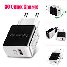 QC3.0 Fast Charge USB 5V 3.1A Travel Wall Charger Adapter EU ...