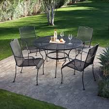 patio decorating black iron outdoor furniture