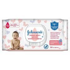 <b>Детские влажные салфетки</b> Johnson's «Нежная забота», 64 шт ...