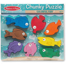 Colorful Fish <b>Chunky</b> Wooden Puzzle - Educational <b>Toys</b> Planet