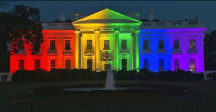 Image result for WHite house lit up rainbow