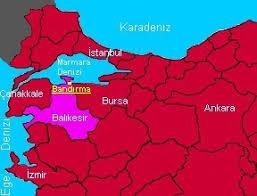 Image result for bandırma haritası