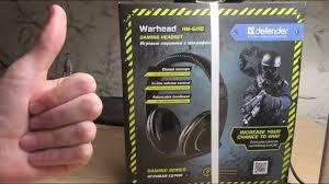 Обзор игровых наушников <b>Defender Warhead HN</b>-<b>G110</b> - YouTube