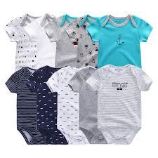 2019 <b>5pcs lot Newborn</b> 100%cotton Unicorn 0-12m Boys <b>Bodysuits</b> ...