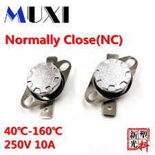 <b>High Quality 5Pcs</b>/<b>Lot</b> KSD301 10A 250V Bimetal Disc Temperature ...