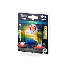 Галогенная <b>лампа AVS</b> /<b>ATLAS ANTI-FOG</b>/желтый H11.12V.55W ...