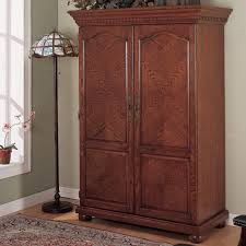 bedroom furniture sets brown reddish varnished armoire