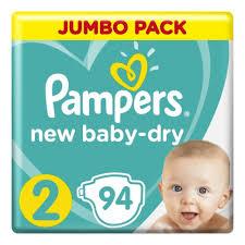<b>Подгузники Pampers New</b> Baby-Dry 2 Mini (4-8 кг), 94 шт ...