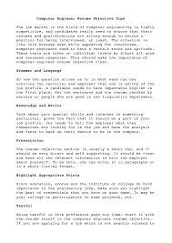 computer resume objectivecomputer engineer resume objective tipsthe job market in the field of computer engineering is highly