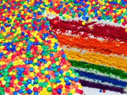 Resultado de imagem para enfeite festa  arco iris