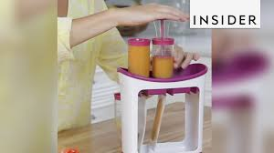 The Infantino <b>Squeeze Station</b> let's you make your own <b>baby food</b> ...