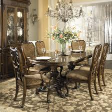 seven piece dining set: seven piece dining set pedestal table hand carved