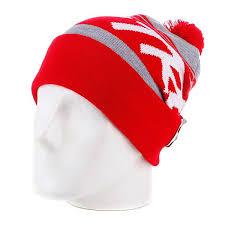 Купить <b>шапку</b> с помпоном <b>True Spin Jacquard</b> Styles Red/Grey ...