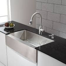 kraus 36 inch farmhouse single bowl stainless steel kitchen sink with noisedefend8482 soundproofing apron kitchen sink