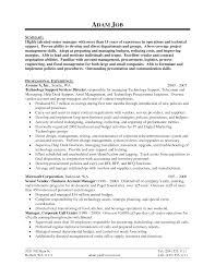 sample resume of it support manager sample technical resume resume technology skills resume examples curriculum vitae career cover letter