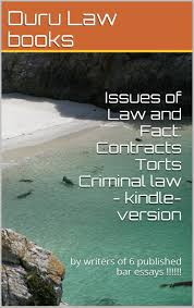 buy law of contracts a z law school e book issues and rules issues of law and fact contracts torts criminal law a law school e book e law book by writers of 6 published bar essays