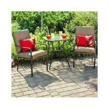 crossman piece outdoor bistro: mainstays crossman  piece outdoor bistro set ii with arms seats
