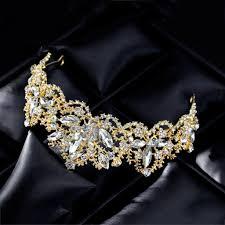 Bride Crown <b>Baroque Luxury</b> Wedding Tiara Women Headdress ...