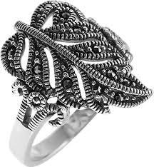Серебряное <b>кольцо Марказит</b> HR031SP-<b>mr</b> c <b>марказитом</b>, cо ...