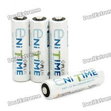 Rechargeable AA 2500mAh NI-MH Battery (4 Piece Pack) - Free ...
