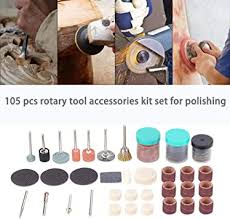 <b>105pcs Rotary Tool Accessories</b> Kit Set for Polishing Drilling Sawing ...