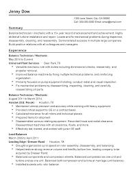 professional balance technician templates to showcase your talent resume templates balance technician