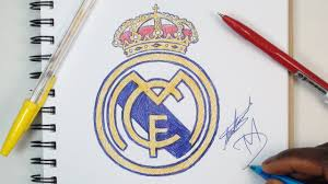 How To Draw The Real Madrid Logo - Using Ballpoint Pens - YouTube
