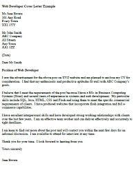web developer cover letter example   icover org uk
