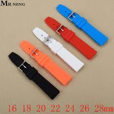 Online Shop <b>Rubber Silicone</b> 16/<b>18</b>/<b>20</b>/22/24/26/28mm Solid Watch ...