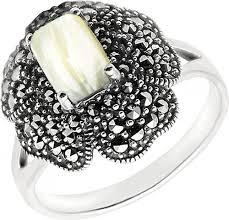 Серебряный перстень <b>Марказит</b> HR1133-perlamutr-<b>mr</b> с ...