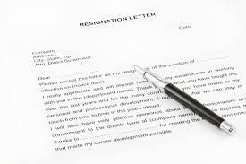 formal resignation letter  weeks notice letters resignation  letters resignation