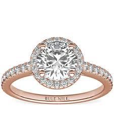 Classic <b>Halo</b> Diamond Engagement Ring in 14k <b>Rose Gold</b> (1/4 ct ...