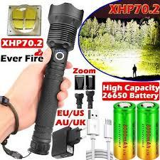 Super Bright 999000LM Flashlight <b>XHP70</b> XHP50 LED Torch ...