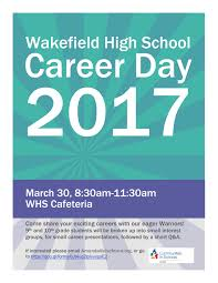 volunteer and support career day at wakefield hs  volunteer and support career day at wakefield hs 3 30 2017