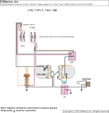 wiring diagrams dimarzio 2 humbucker 1 volume 1 tone 1 dpdt kill switch 1 dpdt split neck bridge neck bridge bridge