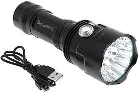 9000LM Tactical <b>LED</b> Flashlight Torch USB <b>Rechargeable</b> ...