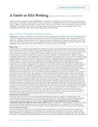 best photos of knowledge skills abilities and writing ksa ksa federal resume guide samples