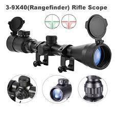 Rifle Scope <b>Mil</b>-<b>Dot</b> Illuminated Red & Green <b>3</b>-<b>9X40</b> E Optics ...