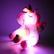<b>30</b>/<b>40cm</b> Colorful LED Luminous Glowing <b>Unicorn</b> Plush Toy Cute ...