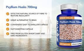 <b>Psyllium Husk Capsules</b>. <b>700mg</b> Psyllium Husk Powder Per ...