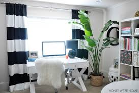 this black and white home office