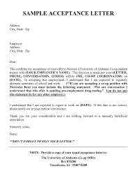 job offer acceptance letter assistant cover letter regarding job acceptance email sample employment acceptance letter sample regarding acceptance letter for job