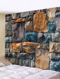 <b>Stones Wall Print</b> Tapestry Wall Art | Стена дизайн, Каменные ...