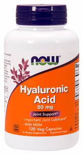 NOW Supplements, <b>Hyaluronic Acid 50 mg</b> with MSM, Joint Support ...