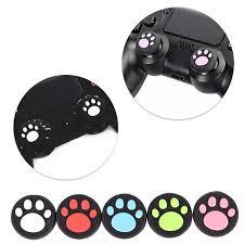 <b>2Pcs</b>/<b>lot</b> Cat Paw <b>Rubber Silicone</b> Game Handle <b>Joystick Thumb</b> ...
