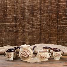 """<b>Чайный набор</b> """"Витязь"""", 8 предметов: чайник 1.4 <b>л</b>, сахарница ..."""