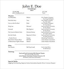 student acting resume pdf free downlaod actors resume template word