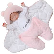 Newborn <b>Baby Infant Receiving Blanket Baby</b> Wrap Velvet Sleeping ...