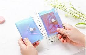 Laser Transparent 36 <b>Bits</b> RFID ID <b>Credit</b> Card Holder Women Men ...