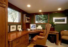 green wall paint color schemes brown leather office chairs home office furniture green plants accessories brown accessories home office tables chairs paintings